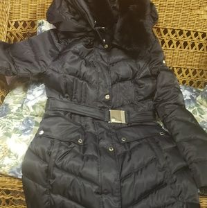 Vince Camuto Belted Faux Fur Coat, small, like new